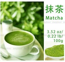 New 100% Pure Organic Natural Matcha Green Tea Powder bag 3.52oz/100g