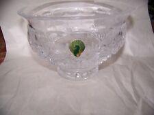 """Waterford Crystal 6"""" Bowl, Killarney, Clear, Label, Sticker, Etch-Mark"""