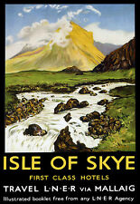 Art ad Isle of Skye LNER a través de viaje ferroviario Tren vieiras LNER cartel impresión