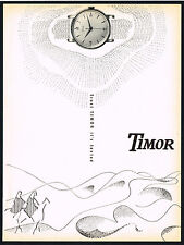 1950's Old Original Vintage 1953 Timor Wrist Watch Desert Art Print AD