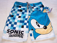 Sonic The Hedgehog Mens Blue Printed Board Shorts Size 32 New