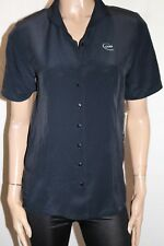 IAG by MORRISSEY Black Short Sleeve CGU Work Shirt Blouse Size 8 BNWT #TR107