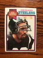 1979 Topps #450 John Stallworth Football Card Pittsburgh Steelers NFL Raw