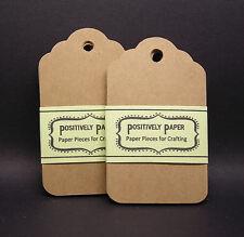 100 Blank Scallop Gift Tags Kraft Cardstock Wedding Price Hang