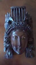 Vintage Oriental Hand Carved Wooden Face Mask