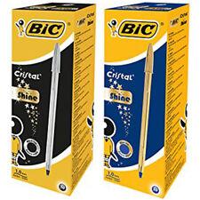 BiC Cristal Celebrate Ballpoint Pen - 2 Box (20 Silver Pens & 20 Gold Pens)