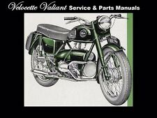 VELOCETTE VALIANT SERVICE & PARTS MANUALs 120pg for Motorcycle Overhaul & Repair