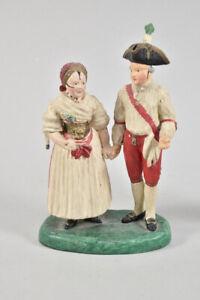h18b90- 2x Abt Figurenkopie aus dem Ulmer Museum, handbemalt