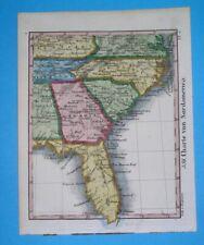 1834 RARE NICE ORIGINAL MAP UNITED STATES FLORIDA GEORGIA NORTH SOUTH CAROLINA