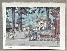 Toshi Yoshida Signed Woodblock Print Nikko