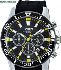 LORUS Watch, Chronograph, 12/24Hrs, Stainless Steel, WR100, Mens, RT361DX-9