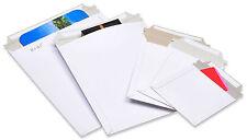100 6x8 Rigid Photo White Cardboard Envelopes Mailers Stay Flat BP