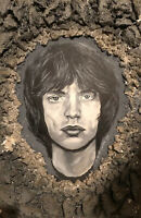 MICK JAGGER portrait -ORIGINAL PAINTING!ONE of a KIND! Rolling Stones
