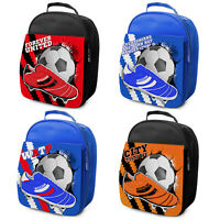 Football Lunch Bag Kids Lunch Box School Snacks Insulated Personalised ALL TEAMS
