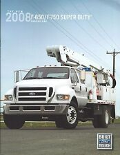 Truck Brochure - Ford - F-650 F-750 Super Duty Chassis Cab - 2008 (T1734)