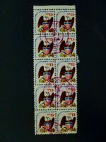 USA 1975 Scott #1596 Block of 10 Used Nice Postmark - See Description & Images