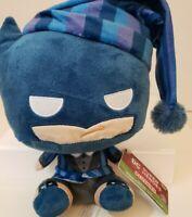 "Funko DC  Superheroes Holiday Santa  Blue Batman Plush 8"" New"