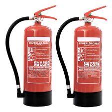 2x 6kg ABC Pulver Feuerlöscher + 2x ANDRIS® Prüfnachweise und ISO Piktogramme