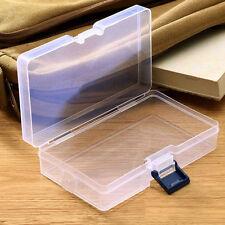 Plastic Transparent Storage Box Jewelry Craft Nail Art Beads Container Organizer