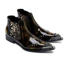 Hot Sale British Men's Spike Leather Punk Pointy Toe Chelsea Ankle Boot Plus SZ