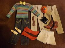 Lot Ken- Doll Clothes + Shoes/Tennis Shoes + Socks- Tie - Vintage