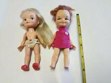 Remco Vintage Hong Kong Small Dolls Pocketbook 2 Dolls 1960s