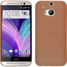 Hardcase for HTC One M8 Slimcase orange Cover + protective foils