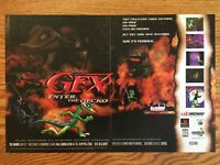 Gex: Enter the Gecko PS1 Playstation 1 N64 PC 1998 Vintage 2-Page Poster Ad Art