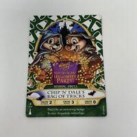 Disney Sorcerers of the Magic Kingdom Card Chip 'N Dale MNSSHP #01/P Halloween
