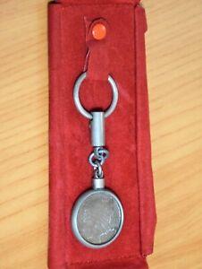 Portachiavi in ferro con 500 lire Argento del 1961 Originale del 1961 Raro