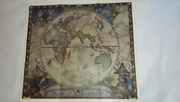 1928 Map of Discovery Eastern Hemisphere National Geographic Society N.C. Wyeth