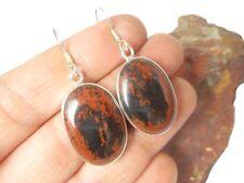 Mahogany  OBSIDIAN  Sterling  Silver  925  Gemstone  EARRINGS