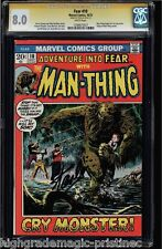 FEAR #10 CGC 8.0 SS STAN LEE WHITE PAGES 1ST SOLO MAN-THING CGC #1206675027