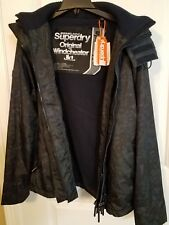 Superdry Jacket Windcheater Dark Army Green Camouflage Hooded Mens Size XL