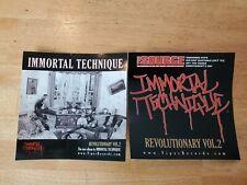 Immortal Technique Revolutionary Vol. 2 official sticker pack (Viper Records)