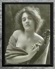 Stunning... Beautiful Women, Bare Shoulders Portrait . Antique 8x10 Photo Print