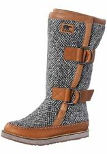 Sorel CHIPAHKO Wool Bottes Taille 42 in Marron Cuir/Textile NEUF