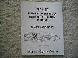 1948 - 1951 MERCURY, FORD TRUCKS PARTS ILLUSTRATIONS BOOK L,M,H (CANADIAN) - NEW