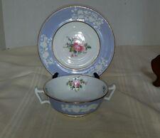 Copeland Spode Maritime Rose Cream Soup Bowl & Saucer 4118 England Lot A