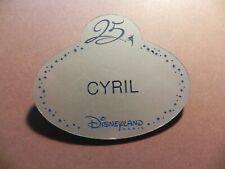 🧒🧒🧒 NAME TAG NAMETAG DISNEYLAND PARIS CAST MEMBER 💙💙💙 CYRIL    💙💙💙