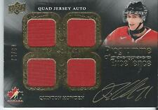 2015-16 UD Team Canada Master Collection QUINTON HOWDEN 4 Jersey Autograph 74/99