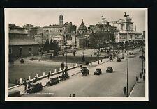 Italy ROMA Rome via dell Impero Busy Street Scene Empire St c1920/30s? RP PPC