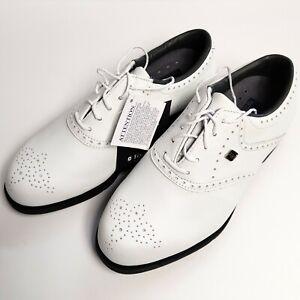 Footjoy Aqualites White Leather Golf Shoes - UK 5.5