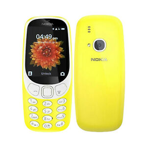 Unlocked Nokia 3310 3G Mobile Cell Phone Bright Yellow Button Basic Camera UK