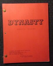 1985 DYNASTY 1/2/85 TV Script #107 Life & Death 1st Draft FN 53 pgs