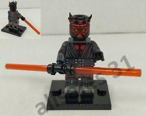 Figurine Lego Star wars custom Dark Maul. Minifigure Jango Fett Jedi CE