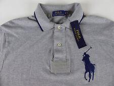 Polo Ralph Lauren SS Big Pony Mesh Rugby Shirt $98.50 NWT #3 Striped Collar Trim