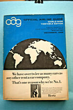 OAG - Official Airline Guide - World Wide Timetable Edition - Dec, 1966