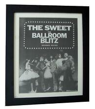 THE SWEET+Ballroom Blitz+POSTER+AD+ORIGINAL 1973+QUALITY FRAMED+FAST GLOBAL SHIP