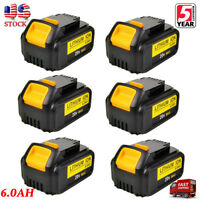 6XFor DeWalt 20V 20 Volt Max XR 6.0AH Lithium Ion Battery Pack DCB204-2 DCB206-2